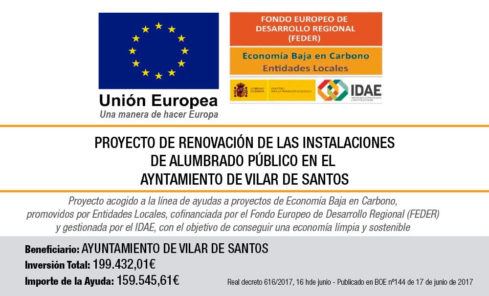 Renovación das instalacións de alumeado público no concello de Vilar de Santos