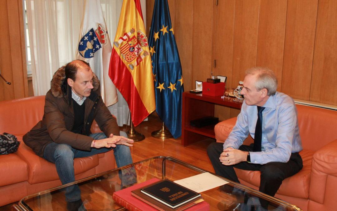 O Alcalde de Vilar de Santos reúnese co subdelegado do Goberno en Ourense