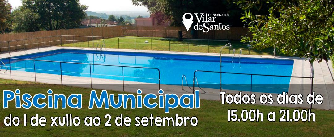 O 1 de xullo abre a Piscina Municipal de Vilar de Santos