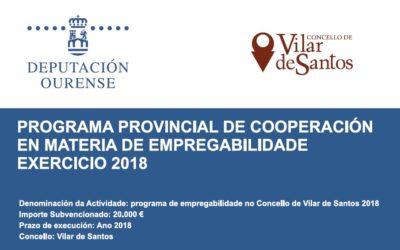 Programa de cooperación empregabilidade 2018