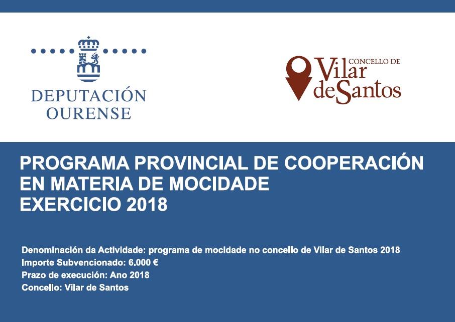 Programa de mocidade no concello de Vilar de Santos 2018