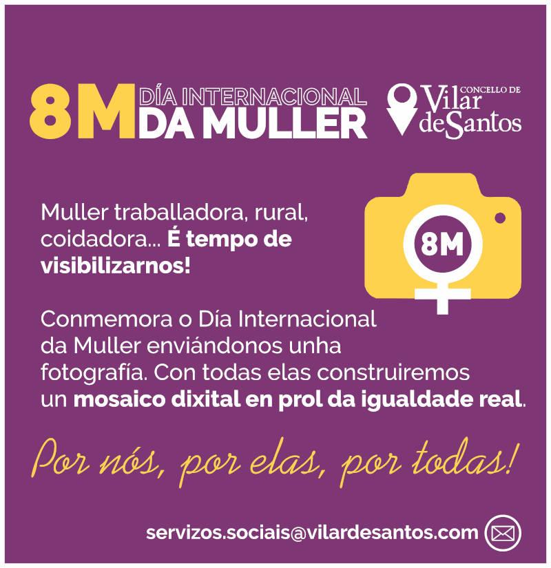 Conmemoración do Día da Muller o 8 de marzo de 2021 en Vilar de Santos
