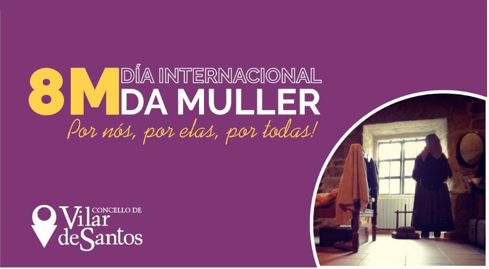 Vilar de Santos súmase á conmemoración do 8M repartindo igualdade e promovendo a visibilidade da muller rural