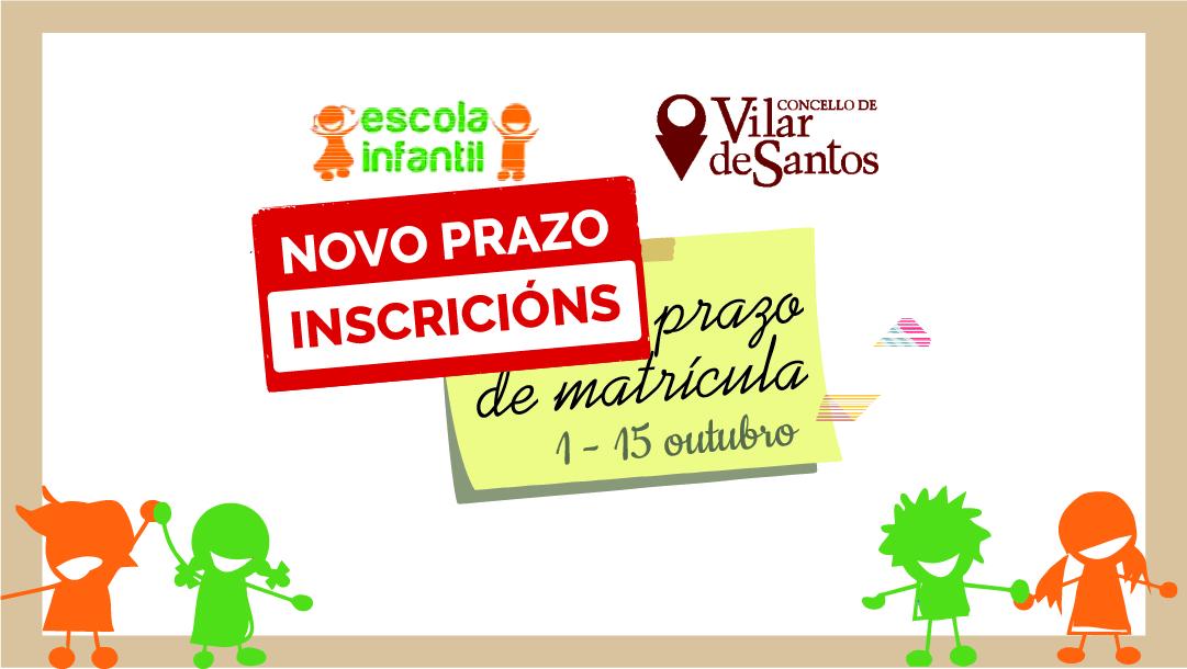 Novo prazo de matrícula na Escola Infantil de Vilar de Santos